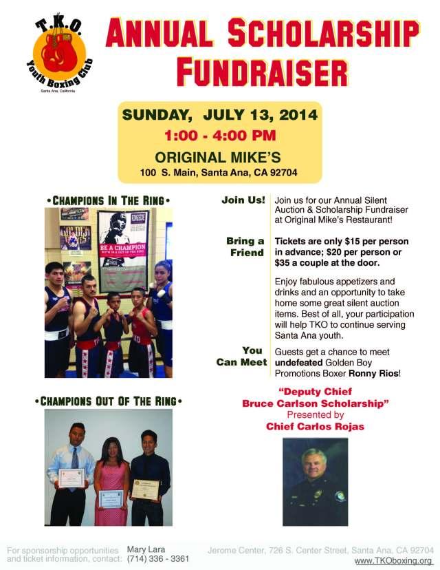 TKO'S 2014 Annual Scholarship Fundraiser