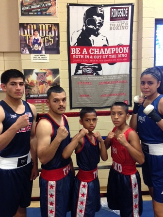5 TKO fighters getting ready for the 2014 Ringside Tournament in Independence Missouri